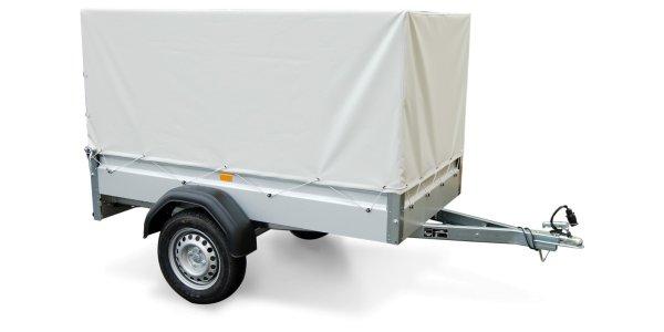 Stema FT 7.5-20-10.1B - Pkw Anhänger mit Hochplane grau und Spriegel 80 cm