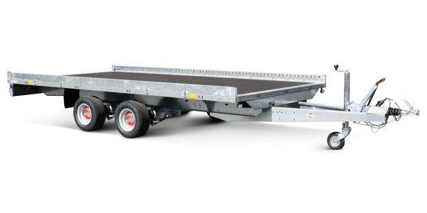 Stema Carrier XL - SHA O2 27-30-18.2 mit seitlicher Reling und zwei ALU-Auffahrrampen 290 cm