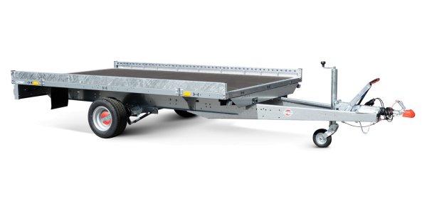 Stema Carrier XL - SHA O2 15-30-18.1 mit seitlicher Reling und zwei ALU-Auffahrrampen 290 cm