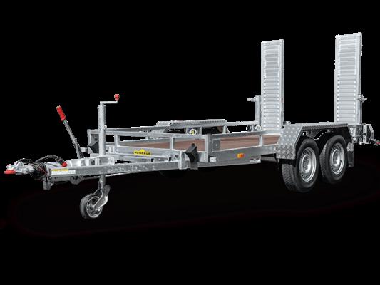 Humbaur HS 353516 Profi - Baumaschinenanhänger mit Alu-Auffahrbohlen