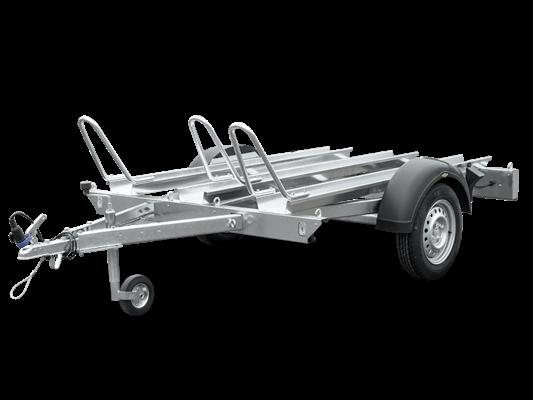 Humbaur HM 75 21 13 - Motorradtransporter für 3 Motorräder